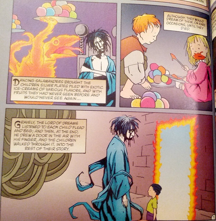 Sandman page that evokes children's literature