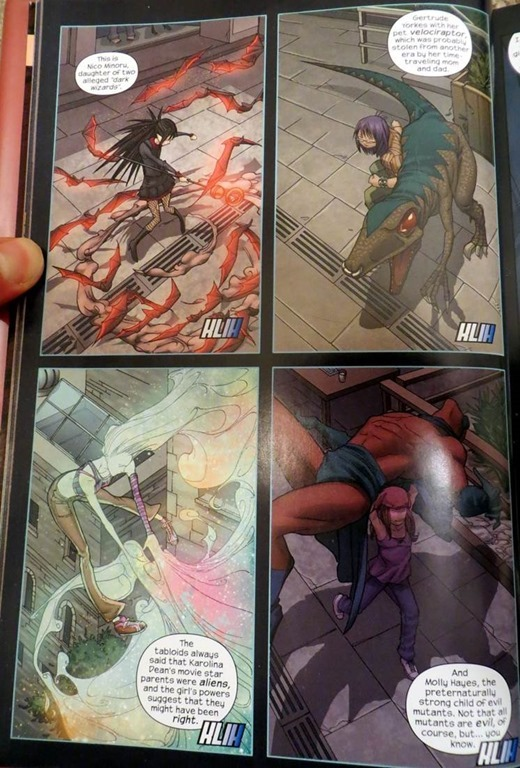 exposition page from Runaways volume 2