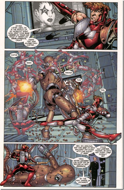In youngblood comic shaft fights a training robot